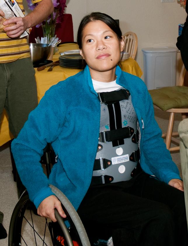 Wendy in wheelchair